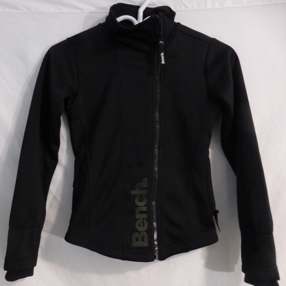 Bench ages 9-10 140 cm black zip exercise jacket